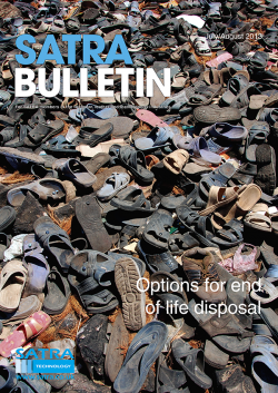 SATRA Bulletin July/August 2013 cover