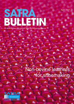 SATRA Bulletin April 2017 cover