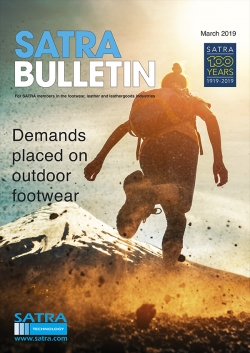 SATRA Bulletin March 2019 cover